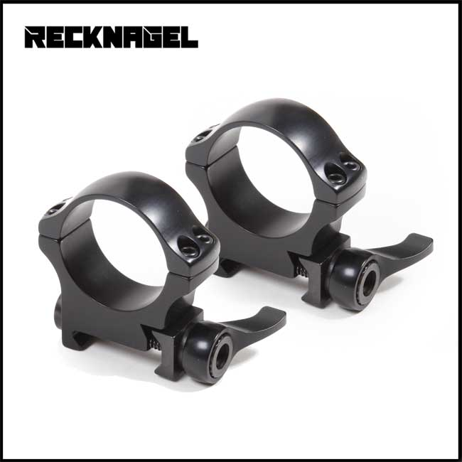 Recknagel QD Rings for Picatinny - 30mm (Various BH Options)