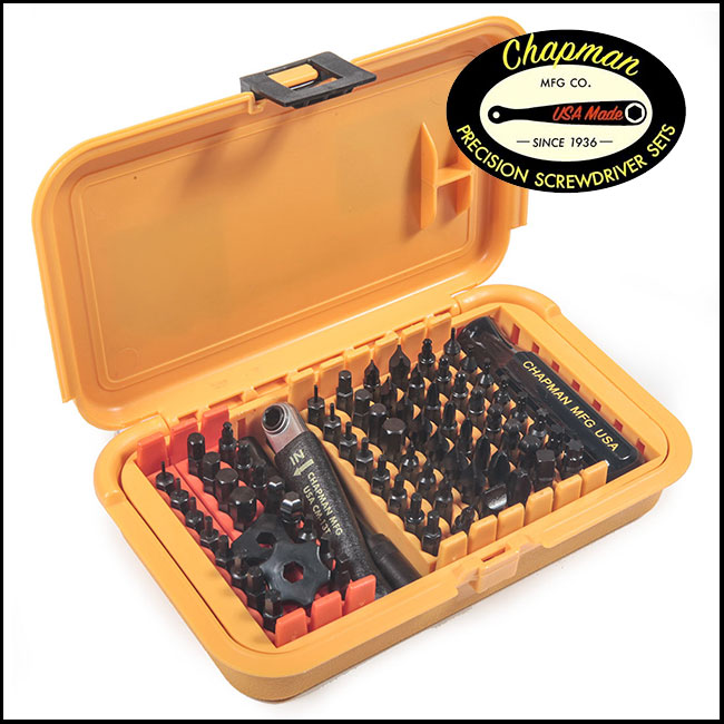 Chapman Precision Screwdriver Set 1000, 75 Piece - Mity Master