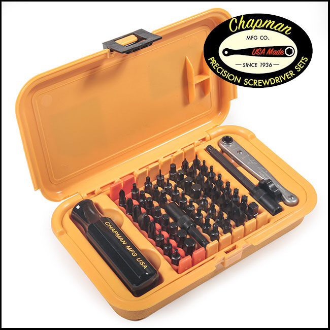 Chapman Precision Screwdriver Set 5575, 56 Piece - Master Set