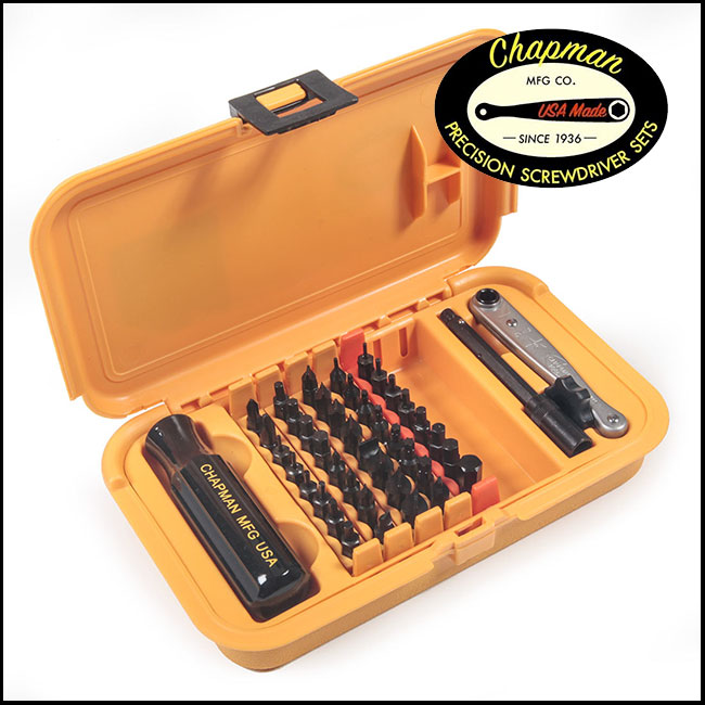 Chapman Precision Screwdriver Set 5859, 44 Piece (SAE & Metric)
