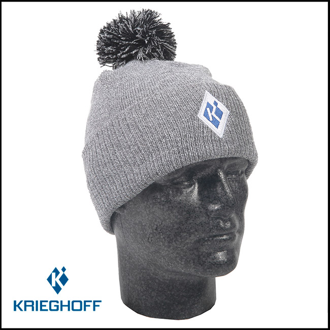"Krieghoff ""K"" Bobble Beanie - Heather Grey"