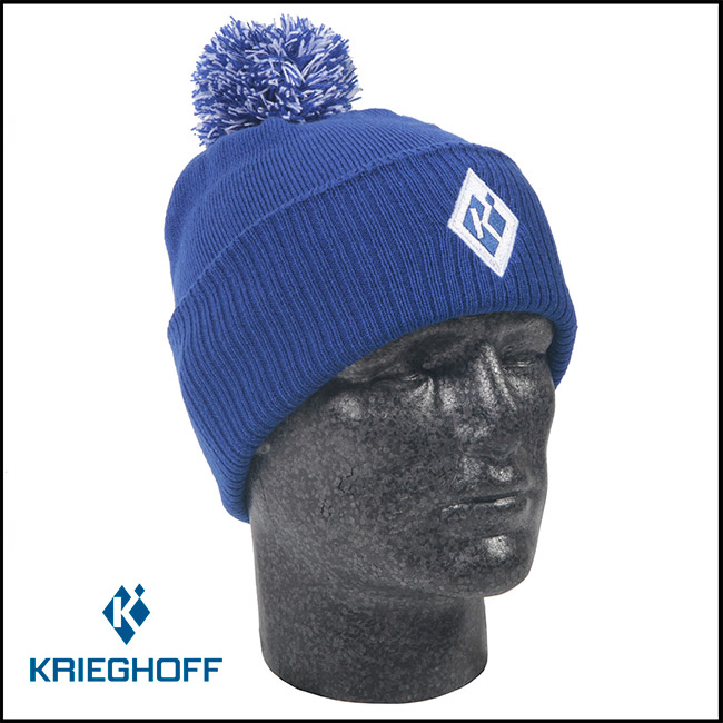 "Krieghoff ""K"" Bobble Beanie - Royal Blue"