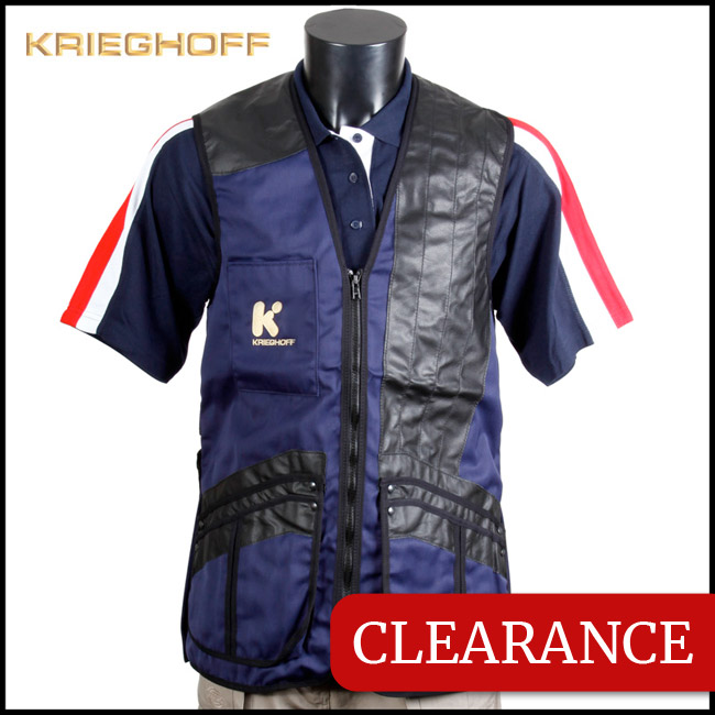 Krieghoff Shooting Vest Navy (Mesh Back) Left-Handed