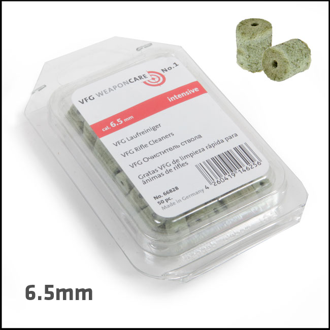VFG Intensive Barrel Cleaning Felts for 6.5mm (Box of 50)
