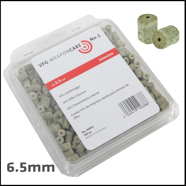 VFG Intensive Barrel Cleaning Felts for 6.5mm (Box of 500)
