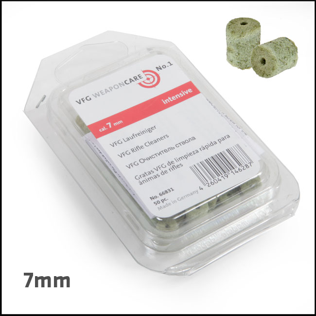 VFG Intensive Barrel Cleaning Felts for 7mm (Box of 50)