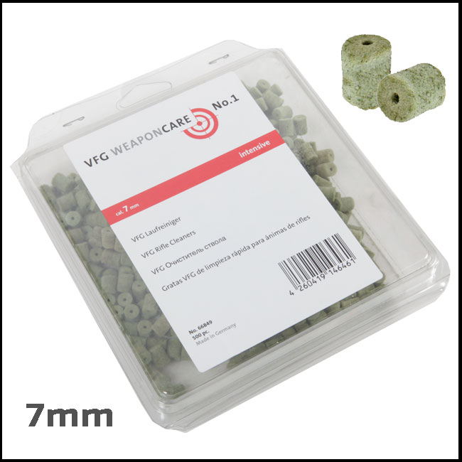VFG Intensive Barrel Cleaning Felts for 7mm (Box of 500)